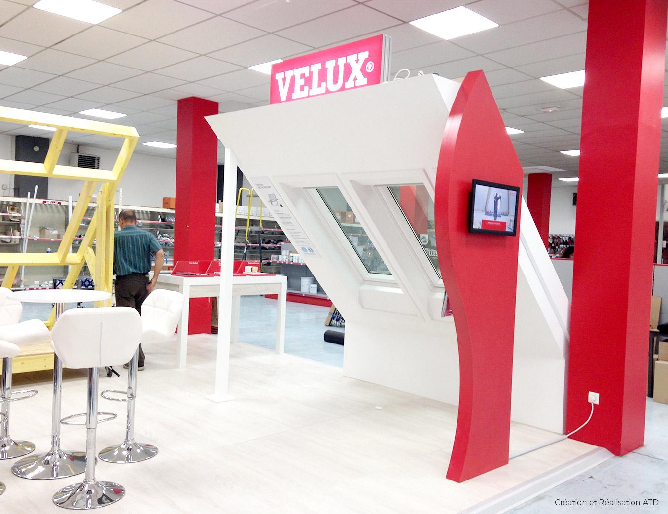 Corner Exhibition Stands Job : Velux corner de vente alphonse tari design